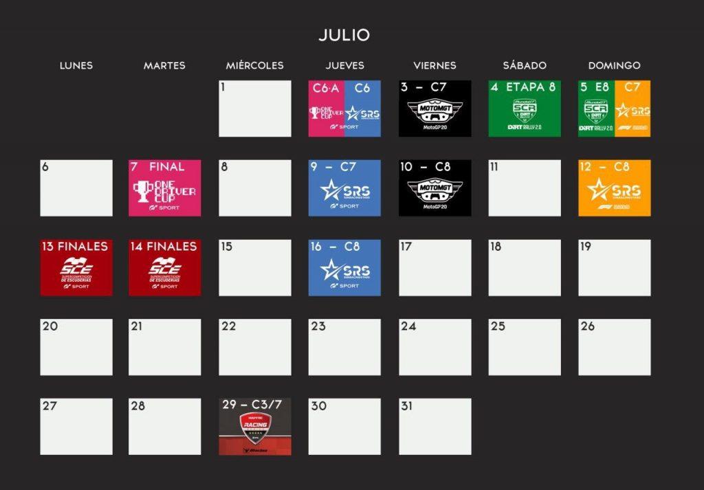 competiciones julio